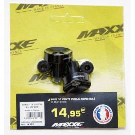 EMBOUT DE GUIDON ALU 003 MAXXE NOIR MADE IN FRANC
