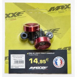 EMBOUT DE GUIDON ALU 003 MAXXE ROUGE MADE IN FRANC
