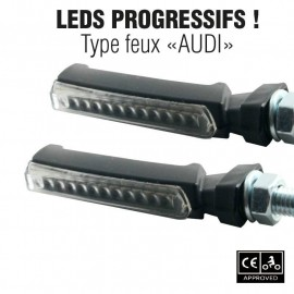 CLIGNOTANTS LED CE PROGRESSIF MAXXE NOIR TRANSP