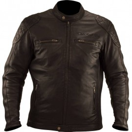 BLOUSON CUIR BE ROAD MARRON