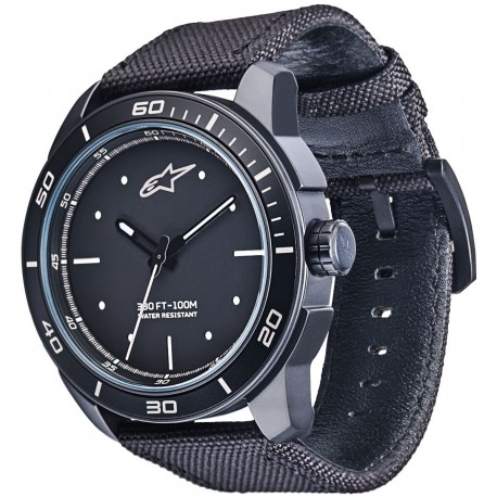 MONTRE ALPINESTARS 3H BLACK WHITE