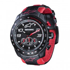 MONTRE ALPINESTARS CHRONO SILICON BLACK RED