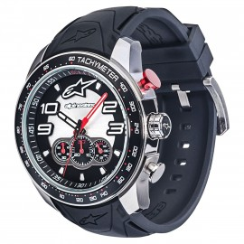 MONTRE ALPINESTARS CHRONO SILICON BLACK STEEL