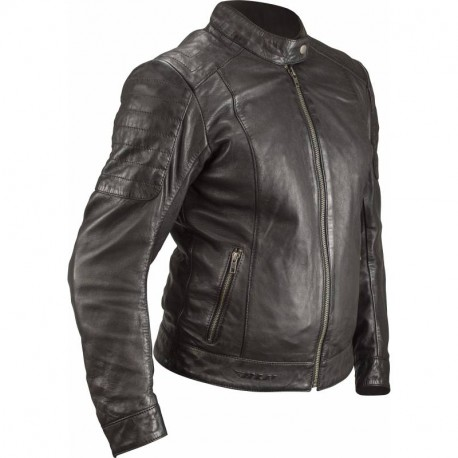 BLOUSON CUIR LADY BE ROAD MARRON